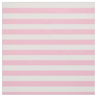 Pastel Pink Striped Fabric