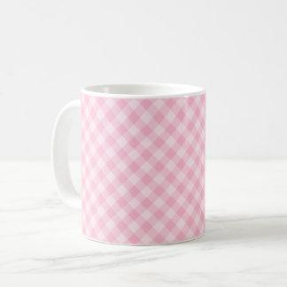 Pastel Pink Tartan Mug
