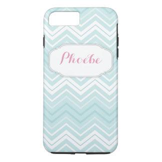 Pastel Pink & Teal Chevron Zigzag Personalised iPhone 7 Plus Case