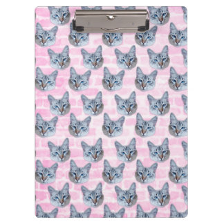 Pastel Pink Tito Cat Clipboard