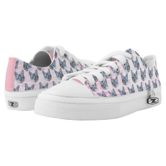 Pastel Pink Tito Cat Low Tops