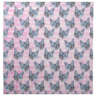 Pastel Pink Tito Cat Napkin
