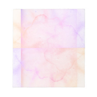 Pastel Pink Water Spot Aged Paper Look Notepad