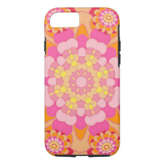 Pastel Pink Yellow Orange Nouveau Deco Pattern iPhone 7 Case