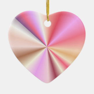 Pastel Pinks Contrasting Points 'N Cones Ceramic Heart Decoration