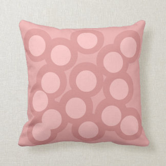 Pastel Pinks Pillow/Cushion Vers 2 Circles Cushion
