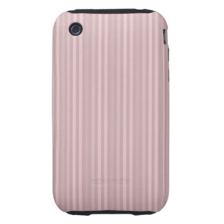 Pastel Pinks Vertical Stripes Tough iPhone 3 Case