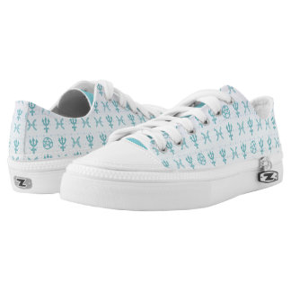 Pastel Pisces Low Top Shoes Printed Shoes