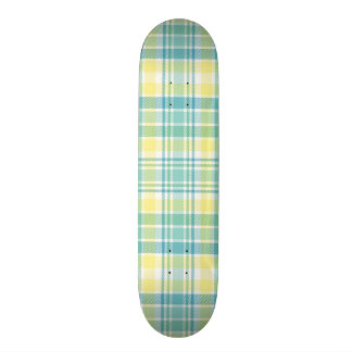 Pastel Plaid 21.6 Cm Old School Skateboard Deck