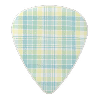 Pastel Plaid Acetal Guitar Pick