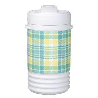 Pastel Plaid Drinks Cooler