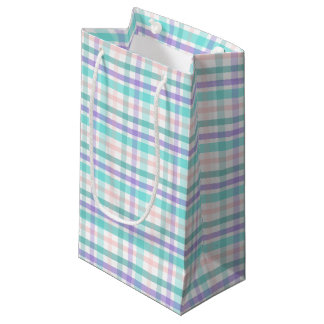 Pastel Plaid Gift Bag