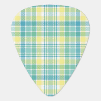 Pastel Plaid Guitar Pick