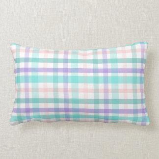 Pastel Plaid Lumbar Pillow