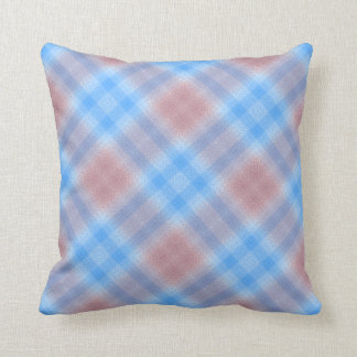 Pastel Plaid Throw Pillow by JoMazArt©