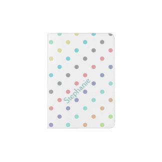 Pastel Polka Dot Personalized Passport Holder