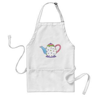 Pastel Polka Dot Tea Party Tea Pot Teapot Apron