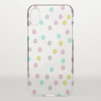 Pastel Polka Dots Clear iPhone X Case