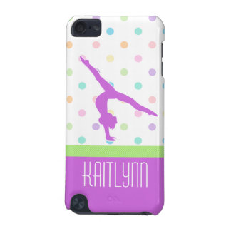 Pastel Polka-Dots Gymnastics in Lavender iPod Touch 5G Cases