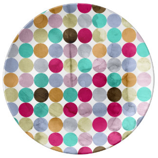 Pastel polka dots plate