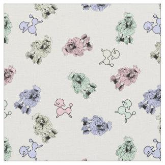 Pastel Poodles Fabric