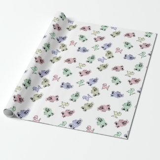 Pastel Poodles Wrapping Paper