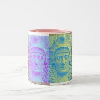 Pastel Pop Art Deco Stone Head ceramic Mug