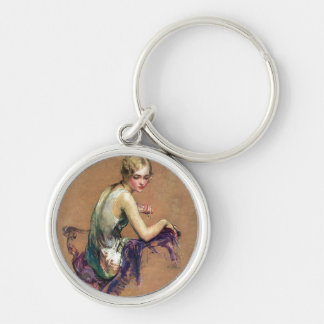Pastel Portrait Key Ring