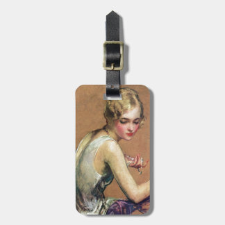 Pastel Portrait Luggage Tag
