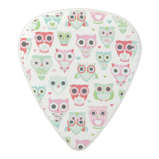 pastel powder color owl background acetal guitar pick