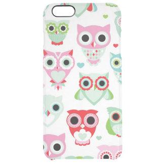 pastel powder color owl background clear iPhone 6 plus case