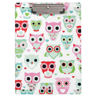 pastel powder color owl background clipboard
