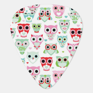 pastel powder color owl background guitar pick