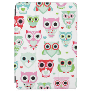 pastel powder color owl background iPad air cover