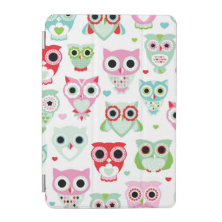 pastel powder color owl background iPad mini cover