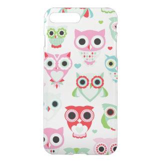 pastel powder color owl background iPhone 8 plus/7 plus case
