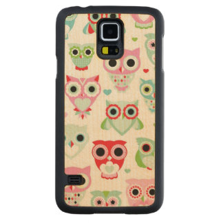 pastel powder color owl background maple galaxy s5 slim case