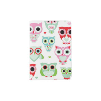 pastel powder color owl background passport holder