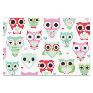 pastel powder color owl background tissue paper