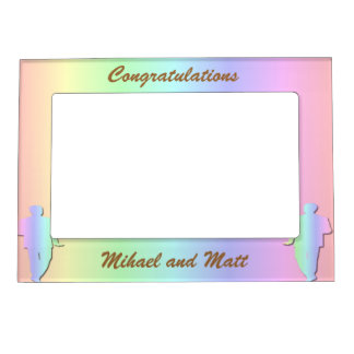 Pastel Pride Gay Wedding Gift Frame