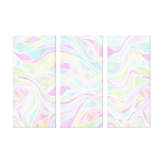 Pastel Psychedelic Stained Glass Abstract Canvas Print