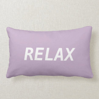 Pastel Purple and White Relax Lumbar Pillow