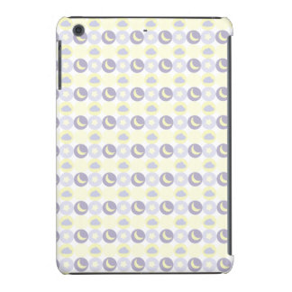 Pastel Purple and Yellow; Moon and Stars iPad Mini Cover