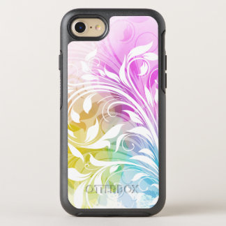 Pastel Purple, Blue and Yellow Abstract Swirls OtterBox Symmetry iPhone 7 Case