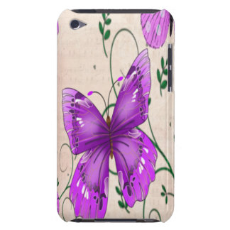 Pastel Purple Butterflies Barely There iPod Case