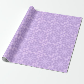 Pastel Purple Floral Star Kaleidoscope Wrapping Paper