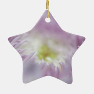 Pastel Purple Flower Christmas Tree Ornaments
