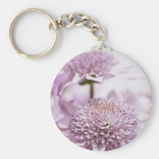Pastel Purple Flowers Key Chain
