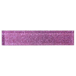 Pastel purple glitter nameplates
