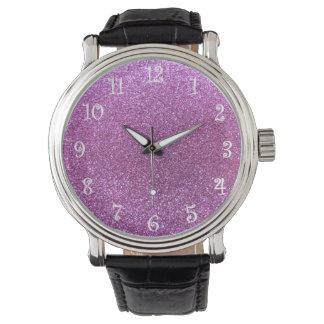 Pastel purple glitter watch